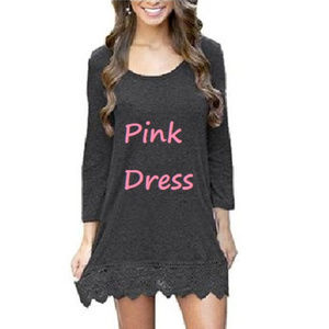 "PINK Dress Tunic Knit NEW size XXL 44""B 38""W 46""H"